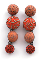 Ford & Forlano Red Satellite Earrings